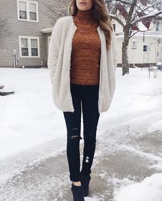 Tess Christine adorable winter outfit