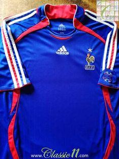 3abd7c7023c 2006 07 France Home Football Shirt (L). France Football ShirtVintage Football  ShirtsAdidas ShirtFifa World CupSoccerHs ...