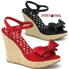 "5"" platform espadrille sandals with bow"