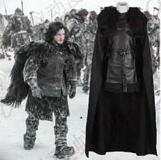Free Shipping!Game of Thrones A Song of Ice and Fire Jon Snow Cosplay Costume(can be customized) #Affiliate