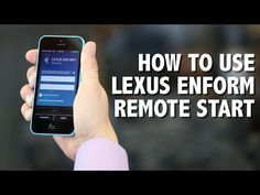 Hoffman Hints - How to Use Lexus Enform Remote Start - YouTube