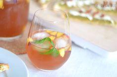 Minty Vanilla-Peach Ice Tea