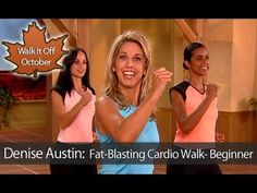 Denise Austin: Fat-Blasting Cardio Walking Workout- Beginner is an easy, one mile calorie-burning cardio walking workout that is specifically designed as a metabolism-boosting alternative for those unaccustomed to regular exercise. Melt away those extra pounds with Iconic Fitness Legend, Denise Austin as she takes you through this low-impact, fi...