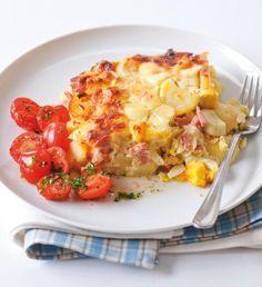 Recepty: Quiche s lučinou a rajčaty Hawaiian Pizza, Potato Recipes, Mozzarella, Penne, Macaroni And Cheese, Cauliflower, Food And Drink, Cooking Recipes, Potatoes