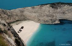 OLD WRECK BEACH (GREECE - IONION... #Greece #Greek