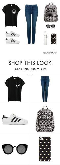 """look universitario"" by pauleblumail on Polyvore featuring moda, NYDJ, adidas, Vera Bradley, Quay y Dot & Bo"