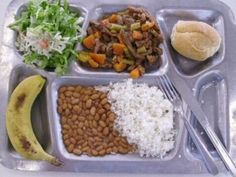 A school lunch from Brazil. Kind of makes me wish I had grown up in Rio.