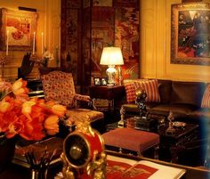 sister parish rooms | Babe Paley's living room designed by Sister Parish & Albert Hadley ...