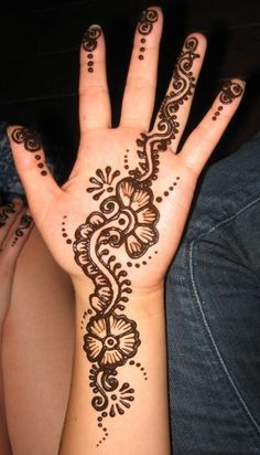 simple mehndi arabic designs - Google Search                                                                                                                                                                                 More
