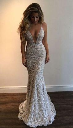 SEXY MERMAID PROM DRESS,DEEP V NECK PROM DRESS,2018 NEW ARRIVE PROM DRESS M1004#mermaidpromdress#sexypromdress#vneckpromdress#meetbeauty