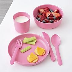 Bibs, Nursing Pillows & Baby Feeding Accessories Crate and Barrel - Baby Care Crate And Barrel, Baby Meal Plan, Baby Eating, Pink Kids, Play Food, Plates And Bowls, Dinner Sets, Homemade Baby, Food Containers