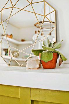 Best DIY Projects: Gem Mirror DIY + Easy Mirror Cutting Technique