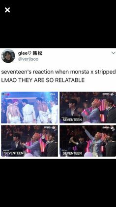 the Monsta X and Seventeen friendship motivates me in life