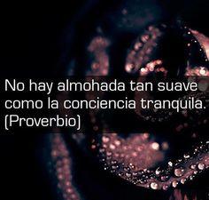 No hay almohada tan suave como la conciencia tranquila. #frase #proverbio http://www.gorditosenlucha.com/