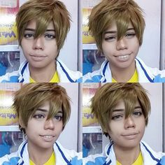 (3) serene-kei immediately went for Makoto on this one haha. my makeup for him is never the same imo though to the common viewer the subtle changes/differences arent very obvious. #makeup #cosplaymakeup #cosplay #makototachibana #freecosplay
