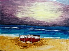 Sail away painting. Artist: Kelsey Escue
