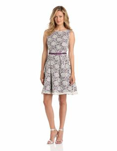 Gabby Skye Women's Lined Lace Dress with Belt, Cream, 10 Gabby Skye, To BUY or SEE just CLICK on AMAZON right here. http://www.amazon.com/dp/B00CIUHALW/ref=cm_sw_r_pi_dp_BF1qtb04G6MH2NP3