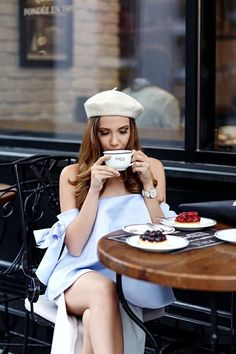 Parisian French inspired outfit idea.