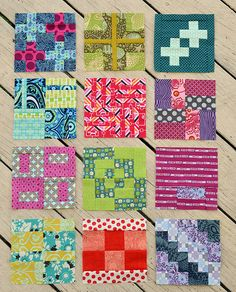 Blocks 13-24 by sewcraftyjess, via Flickr quilt
