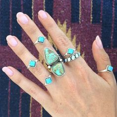 Turquoise Rings | #jewelry