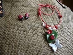 Conjunto - collar con pendientes para niña