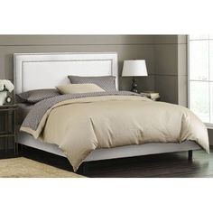 Skyline Furniture Nail Button Upholstered Panel Bed & Reviews | Wayfair