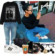 Passion 4Fashion: Black Roses && Tea by shygurl1 on Polyvore featuring polyvore fashion style Gucci Zara Givenchy Larsson & Jennings Ted Baker adidas Originals