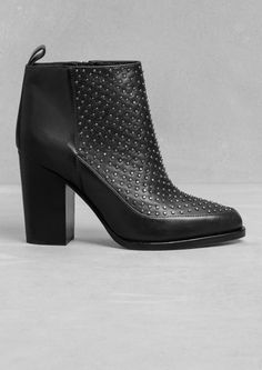 & Other Stories | Stud Leather Ankle Boots