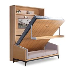Space Saving Wall Mounted Modern Transformable Folding Wall Bed With S. - Space Saving Wall Mounted Modern Transformable Folding Wall Bed With S… You are in the right place - Folding Furniture, Space Saving Furniture, Furniture Design, Space Saving Beds, Modern Furniture, Best Murphy Bed, Murphy Bed Plans, Diy Murphy Bed, Murphy Bed Sofa