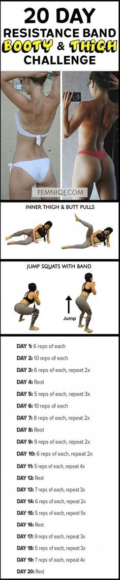 How To Get A Bigger Butt Workout Using Resistance Bands -Bigger Butt Workout at Home For Women - This uniqe and intense routine is one of the best exercise for butt and thighs. After a week you will start to see noticeable changes! (How To Get A Bigger Bu by bertha