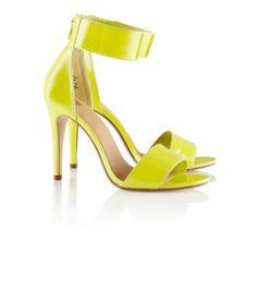 H Neon Yellow Heels