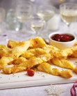Blue Cheese Straws with Cranberry Dipping Sauce