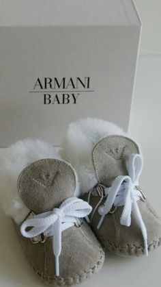 My baby Thad's 1st Armani winter shoes (2013) ;)