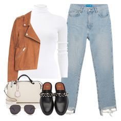 """Sin título #2982"" by camilae97 ❤ liked on Polyvore featuring M.i.h Jeans, Michael Kors, MANGO, Fendi, Chopard and Givenchy"