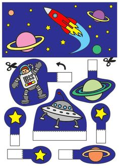 space - Coloring pages and crafts Space Party, Space Theme, Space Activities, Activities For Kids, Space Coloring Pages, Space Classroom, Craft Images, Space Planets, Class Decoration