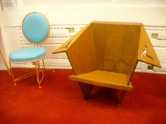 Original Frank Lloyd Wright Chairs at the Child of the Sun Visitor Center at Florida Southern College