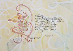 Trauspruch, verschenkt zum 6. Hochzeitstag. #Wedding #Calligraphy #Kalligrafie #Lettering