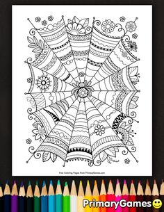 Free Printable Halloween Coloring Pages EBook For Use In Your Classroom Or Home From PrimaryGames