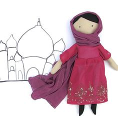 #Muslim Girl #Doll Sewing Pattern PDF  Multicultural by SweaterDoll #asian