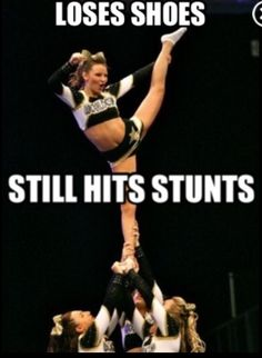 Cheerleading  Proud of the stunts I saw you have done - wow! Go Jewel. :)