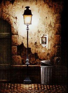 Jolie photo d'un moment hors du temps avec ce lampadaire de rue typiquement parisien!