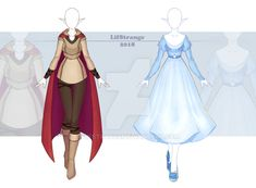 [Commissions] Outfits by LifStrange on DeviantArt Pretty Outfits, Cute Outfits, Anime Girl Dress, Adventure Outfit, Clothing Sketches, Poses References, Fantasy Dress, Fashion Art, Fashion Design