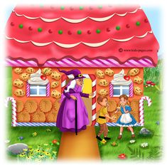 Hansel and Gretel 5 Kids Pages, Wicked Witch, Riddles, Gingerbread, Coloring Pages, Fairy Tales, Decoupage, Old Things, Clip Art