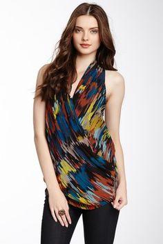 Multicolor Printed Drape Top