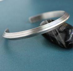 Mens Sterling Silver Cuff Bracelet Triangle by LynnToddDesigns, $131.00