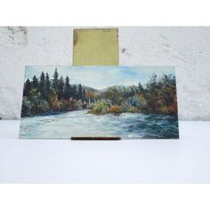 Tiny River Painting - Painting by Fred H. Koch    From Just Smashing Darling on Etsy