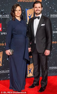 Announcements: Sofia and Carl-Philip, pictured last month, announced their pregnancy via F...