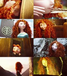 Merida is a role model for her brothers in an odd TomBoyish way. And she still manages to control them