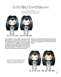 Copic Coloring - Black Hair Tutorial #Copic