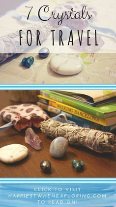 7 Crystals for Travel // at happiestwhenexploring.com